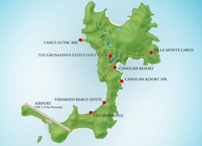 Canouan map