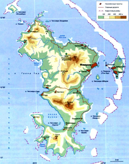 Mayotte map