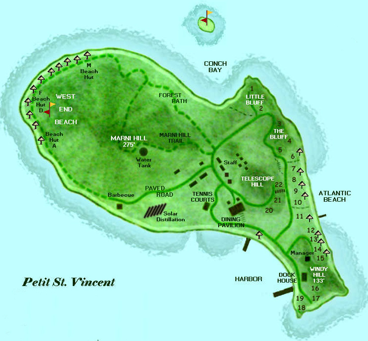 Petit Saint Vincent map